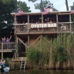 Doc's Oyster Bar located over looking Tom's Bayou