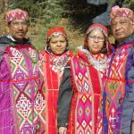 at solan valley in himachal dress