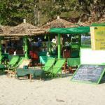 Green Umbrella-in the center of the beach restaurants.