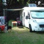 Emplacement pour toile de tente, caravane et camping car
