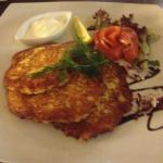 Very delicious potato pancakes in hotel restaurant