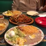 Chicken fajitas for 2. Or more like for 4 with how much food you get!