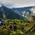 Machupicchu view from Llactapata Inca Trail