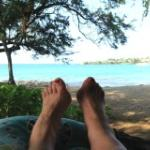Relaxing on lanai of our bungalow