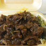 Curried mutton rice and peas  loads of gorgeous meat and the sauce is to die for <3