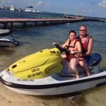 The jetski hire at the hotel beach,cheap to hire too