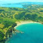 Waiheke Island from the plane