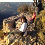 Sitting on the Edge of The Canyon