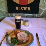 Sunday Roast pork & a pint of Guinness