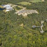 Wild Walk and The Wild Center shown from above