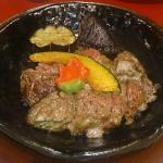 金沢牛のステーキ