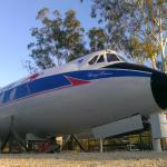 Historic plane being restored.