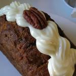 Carrot cake - warm, delicious