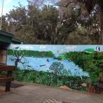 Entrance mural