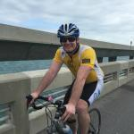 Biking over Long Key Bridge