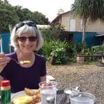 Asparagus omelet at Cafe Haleiwa