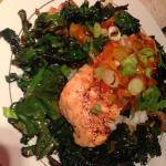 Another nightly special- sweet chilli salmon.