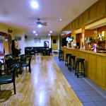 The bar area is in between  the dining rooms and the lounge. Lots of yummy food on the bar menu!