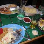 Very good del Mar enchiladas w crab n shrimp.. ahi fish tacos and chicken so much meat very tast