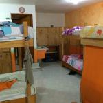 Orange dorm room