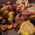 Cajun boil without the craw fish and if u need that just ask and they charge u for that!