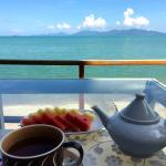 Terrasse pour le breakfast