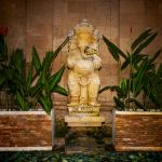 The Hindu God Ganesh (Success) near the entrance of the Villa.