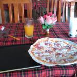 salmai pizza nice crust not much sauce though