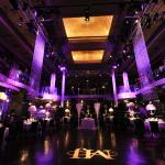 Dramatic lighting of the Ballroom with room for a dance floor