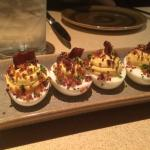 Deviled Eggs with quinoa and bacon