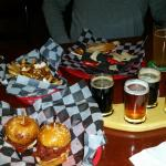 Appetizers and Beer Flight