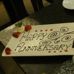 Anniversary chocolate plate