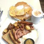 Country style breakfast, huge and delicious