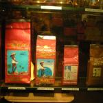 Some of different packaged coffee blends on offer