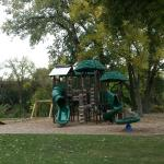 Playground with zip line