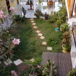 área interna, jardins