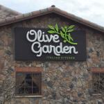 Olive Garden sign on building. 1/23/15