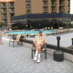 Outdoor/Indoor pool deck on the 3rd floor.  Very nice!