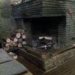 Fireplace in Bar