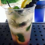 Blueberry lemonade mojitos out at cabana summertime!