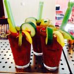 Our famous Bloody Mary! We make Ceasers too!