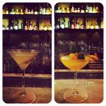 Lovely dirty martini and scrumptious orange sorbet Bellini.