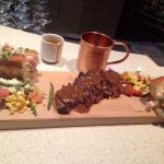 Steak & peppercorn sauce! Prawn & lobster rolls! AMAZING ��
