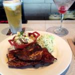 Chicken & rib combo! An excellent choice when you're feeling hungry & want something super savor