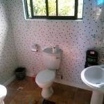 Badezimmer im Selbstversorger-Bungalow