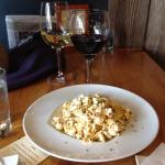 Duck fat popcorn.  Mystery white and red wines