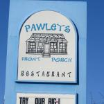 Pawley's Front Porch sign by the road