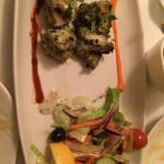Starter Chicken  Sashlik, very tender & bursting with flavours.   Excellent service, very hosp