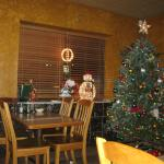 Restaurant Interior - Decorated for the holidays.