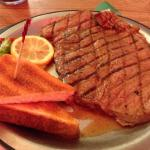 Large sirloin steak off the menu